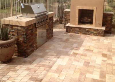 Backyard pavers in Mission Viejo